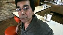 Rabindranath Maharaj in the coffee shop in Ajax, Ont., where he spent many afternoons writing his Trillium-winning novel. (Deborah Baic/Deborah Baic)