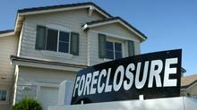A foreclosure sign sits in front of a home for sale April 29, 2008 in Stockton, California. (Justin Sullivan/Justin Sullivan/Getty Images)