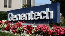 Health Canada has told drug maker Hoffman-La Roche, whose subsidiary Genentech manufactures Avastin, to remove the breast cancer indication from the drug's label. (Justin Sullivan/Getty Images)
