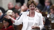 Canada's Human Resources Minister Diane Finley speaks during Question Period in the House of Commons on Parliament Hill in Ottawa September 19, 2012. (CHRIS WATTIE/REUTERS)