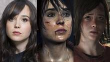 From left, it's Ellen Page (posing during Sundance 2013), and Ellen Page in 'Beyond Two Souls,' and finally 'Ellie,' one of the protagonists of 'The Last of Us.' Can you see the resemblance? Actress Ashley Johnson performed the voice of 'Ellie.' (Victoria Will/AP Images/Quantic Dream/Naughty Dog)
