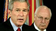 U.S. President George W. Bush, left, and Vice-President Dick Cheney are seen in a September 2005 file photo. (JASON REED/Jason Reed/Reuters)