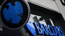 A logo of Barclays bank is seen outside a branch in Altrincham, northern England. (© Phil Noble / Reuters/REUTERS)