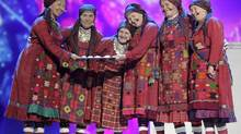 "Buranovskiye Babushki of Russia perform their song ""Party For Everybody"" during a rehearsal for the Eurovison Song Contest final in Baku, May 25, 2012. (DAVID MDZINARISHVILI/REUTERS)"