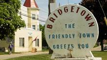 A community welcome sign in Bridgetown, Nova Scotia, May 28 , 2012. (Paul Darrow for The Globe and Mail)