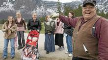 Winston Blackmore ,the religious leader of the polygamous community of Bountiful, B.C. shares a laugh with six of his daughters and some of his grandchildren, in this April 21, 2008 photo. (Jonathan Hayward/ The Canadian Press/Jonathan Hayward/ The Canadian Press)