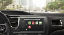 Apple's CarPlay system has a leg up on the competition because of the difficult-to-trump functionality of its technology. (Apple)