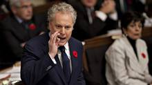 Quebec Premier Jean Charest responds to opposition questions Thursday, November 3, 2011 at the legislature in Quebec City. (Jacques Boissinot/Jacques Boissinot/THE CANADIAN PRESS)