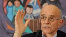 Frank Iacobucci, former Supreme Court justice and Independent Reviewer, speaks on his report on First Nations Representation on Ontario juries. (Brent Linton/THE CANADIAN PRESS)