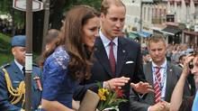 Prince William, Duke of Cambridge and Catherine, Duchess of Cambridge, attend a Freedom of the City Ceremony outside City Hall on July 3, 2011 in Quebec. (George Pimentel/Getty Images/George Pimentel/Getty Images)