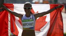 Lanni Marchant (CAN) of Canada celebrates after the race REUTERS/David Gray (DAVID GRAY/REUTERS)