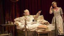 Stephen Ouimette as Argan/Molière and Brigit Wilson as Toinette in The Hypochondriac. (David Hou)