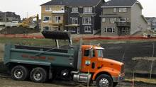 Houses under construction in Calgary are seen in this file photo. (Jeff McIntosh/The Globe and Mail)