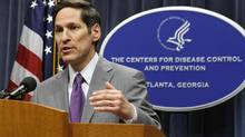 Thomas Frieden, director of the U.S. Centers for Disease Control and Prevention, speaks at the CDC headquarters in Atlanta on Sept. 30, 2014. U.S. health officials said on Tuesday the first patient infected with the deadly Ebola virus had been diagnosed in the country after flying from Liberia to Texas, in a new sign of how the outbreak ravaging West Africa can spread globally. (TAMI CHAPPELL/REUTERS)