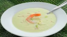 Shrimp and avocado soup offers a refreshing soup alternative on hot summer days. (Thinkstock)