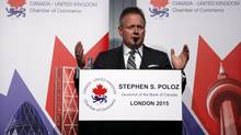 Bank of Canada Governor Stephen Poloz speaks during a Canada-U.K. Chamber of Commerce event in central London March 26, 2015. (STEFAN WERMUTH/REUTERS)