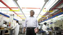 Sankar DasGupta, CEO of Electrovaya, sees the company's future in building energy storage systems. (Moe Doiron/The Globe and Mail)