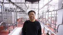 Jim Lee in his closed chicken processing plant in Welland Ont. (Glenn Lowson for The Globe and Mail)
