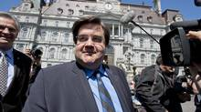 Liberal MP Denis Coderre arrives at Montreal City Hall to announce his intention to run as city mayor in Montreal on Thursday May 16, 2013. (Paul Chiasson/THE CANADIAN PRESS)