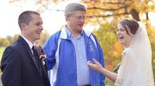 Prime Minister Stephen Harper at a wedding photo shoot in Ottawa. (Laura Kelly/LauraKellyPhotography.ca)