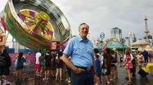 New York corporate lawyer Guy Lander at the Calgary Stampede, July 12, 2010. (Todd Korol for The Globe and Mail)