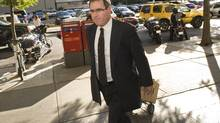 Steve Moore's lawyer Tim Danson arrives at court in Toronto in September 2009. (Kevin Van Paassen/The Globe and Mail)