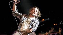 Members of the rock band Pearl Jam perform live to a sold out crowd at the Air Canada Centre Sunday September 11, 2011 (Tim Fraser for The Globe and Mail)