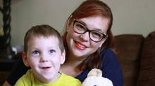 Emily Diamond, whose four-year-old son Bennett Ross has cerebral palsy, can understand parents' need for answers, even though she knows exactly what caused Bennett's condition: She had a major traumatic event while pregnant. (McGill University Health Centre)