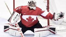 Canada goalie Carey Price makes a save against Sweden during second period action in the gold medal game at the 2014 Sochi Winter Olympics in Sochi, Russsia, on Sunday, February 23, 2014. (Nathan Denette/THE CANADIAN PRESS)