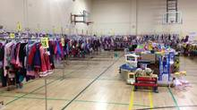 Toronto Parents of Multiple Births Association holds a semi-annual, second-hand clothing sale. Members get first dibs before the sale is opened to the general public. (TPOMBA)