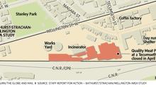 Bathurst/Strachan/Wellington area study. (Carrie Cockburn/The Globe and Mail)