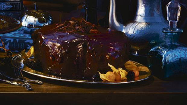 Bloody good chocolate-beet cake with scream-cheese icing - The Globe ...