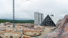 The McInnis Cement plant, which received $450-million in public money, has gone over budget by at least $400-million and requires more financing. (Jacques Gratton for The Globe and Mail)