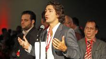 Montreal MP Justin Trudeau, shown at the Liberal convention in Ottawa on Jan. 15, 2012, says the youth-service program 'Katimavik empowers young Canadians. So [the Conservative Party] hates it.' (Peter Power/Peter Power/The Globe and Mail)
