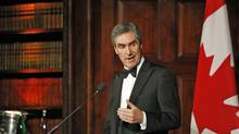 Liberal Leader Michael Ignatieff delivers his keynote speech 'Liberal Values in Tough Times' at the annual Isaiah Berlin Lecture in London on July 8, 2009. (SANG TAN/The Associated Press)