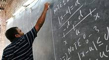 Anand Kumar teaches a math class to students in Patna, Bihar, India on Wednesday, June 29, 2011. (Candace Feit/The Globe and Mail/Candace Feit/The Globe and Mail)