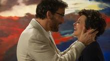 WORDS AND PICTURES (2014). Clive Owen and Juliette Binoche (Doane Gregory/D Films)