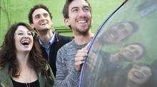 Left to right, Evany Rosen,Kyle Dooley and Mark Little of Picnicface. (Kevin Van Paassen/The Globe and Mail)