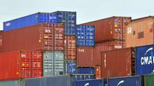 Shipping containers stacked in the Port of Haliax, june 2011. (Roger Hallett)