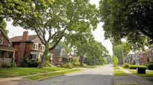 Queens Drive in the Toronto community of Weston is a lush street filled with a mix of farm houses and old heritage homes. (Tim Fraser For The Globe and Mail)