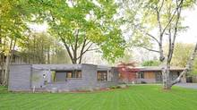 Home of the Week, 805 Glenleven Cres., Toronto. The 1960s modernist home situated on a private half-acre lot backing onto the beautiful Rattray Marsh belonged to the same homeowner for 30 years until sold last June. (Mike Black/Mike Black)