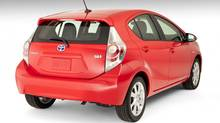 2013 Toyota Prius C. Toyota is the top ranked car company, at No. 10, in Interbrand's Best 100 Global Brands report. (Toyota)