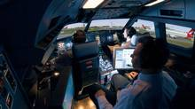 A CAE civil aviation cockpit simulator. (CAE handout)