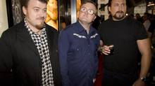 Trailer Park Boys, from left: Robb Wells, Mike Smith and John Paul Tremblay. (Darren Calabrese/THE CANADIAN PRESS)