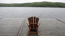 Muskoka chair on the dock, Huntsville, Ont. (Fred Lum/Fred Lum/The Globe and Mail)