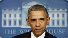 U.S. President Barack Obama speaks at the White House on March 17, 2014. (KEVIN LAMARQUE/REUTERS)