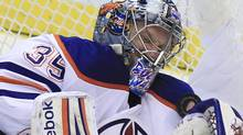 The Edmonton Oilers and goalie Nikolai Khabibulin will miss the playoff this season. (AP File Photo/Carlos Osorio) (Carlos Osorio/AP)
