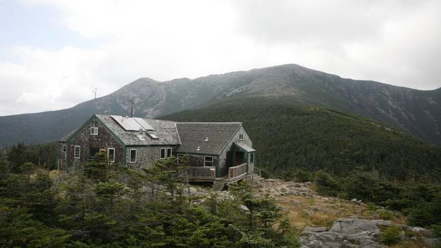 Find Greenleaf Hut, run by the Appalachian Mountain Club, on Mount Lafayette in the Franconia range of the White Mountains. (Herb Swanson)