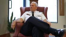 Toronto Police Chief Bill Blair speaking to The Globe and Mail on June 24, 2011. (Peter Power / The Globe and Mail)