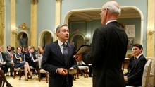 Francois-Philippe Champagne is sworn-in as Canada's Minister of International Trade during a cabinet shuffle at Rideau Hall in Ottawa on Jan. 10, 2017. (CHRIS WATTIE/REUTERS)